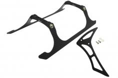Rakonheli Landegestell und Leitwerk Set aus Carbon in schwarz für Blade 230 S und 230 S V2