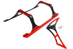 Rakonheli Landegestell und Leitwerk Set aus Carbon in rot für Blade 230 S und 230 S V2
