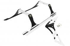 Rakonheli Landegestell und Leitwerk Set aus Carbon in silber für Blade 230 S und 230 S V2