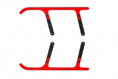 Rakonheli Landegestell Ersatzkufen aus Carbon in rot für Landegestell RKH01506 für Blade Nano CPX/ CP S und S2