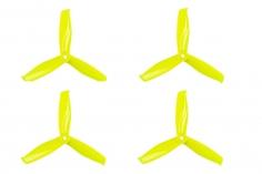 Gemfan FPV Race Propeller HULKIE POPO quick swap 5055 5×5,5x3 in gelb