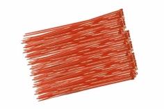 Kabelbinder mit sehr feinem Raster 200x2,7mm 100Stück in hell rot