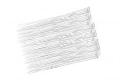 Kabelbinder mit sehr feinem Raster 200x2,7mm 100Stück in weiß
