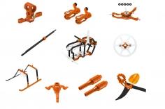 Rakonheli Tuning Set aus CNC Aluminium in orange für den Blade Nano S2