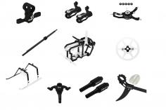 Rakonheli Tuning Set aus CNC Aluminium in schwarz für den Blade Nano S2