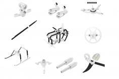 Rakonheli Tuning Set aus CNC Aluminium in silber für den Blade Nano S2