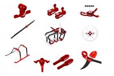 Rakonheli Tuning Set aus CNC Aluminium in rot für den Blade Nano S2