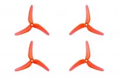 Azure SFP 3Blatt Prop 5148 5,1x4,8Zoll 2xcw + 2xccw 5mm Bohrung in orange