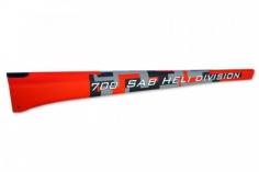 Heckrohr im rotem Havok Design für Goblin Thunder 700 Sport