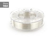 Extrudr Filament TPU (Thermoplastic Polyurethane) FLEX MEDIUM in klar-transparent Ø 1,75mm 0,75Kilo