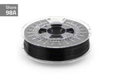 Extrudr Filament TPU (Thermoplastic Polyurethane) FLEX MEDIUM in schwarz Ø 1,75mm 0,75Kilo