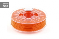 Extrudr Filament TPU (Thermoplastic Polyurethane) FLEX MEDIUM in neon orange Ø 1,75mm 0,75Kilo