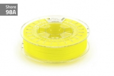 Extrudr Filament TPU (Thermoplastic Polyurethane) FLEX MEDIUM in neon gelb Ø 1,75mm 0,75Kilo
