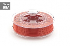Extrudr Filament TPU (Thermoplastic Polyurethane) FLEX MEDIUM in Höllenfeuer rot Ø 1,75mm 0,75Kilo