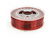 Extrudr Filament PETG (Polyethylenterephthalat glykolmodifiziert) in transparent rot Ø 1,75mm 1,1Kilo