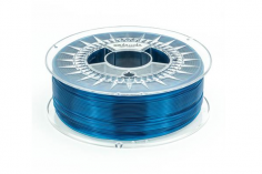 Extrudr Filament PETG (Polyethylenterephthalat glykolmodifiziert) in transparent blau Ø 1,75mm 1,1Kilo