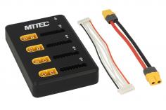 MTTEC ParaBoard PB-4P8S XT60 und XH mit SMD Hauptsicherungen und Anschlusskabel XT60 auf XT60 für ISDT Ladegeräte und Baugleiche