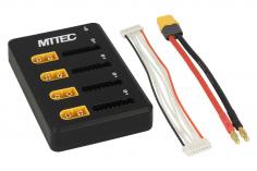 MTTEC ParaBoard PB-4P8S XT60 und XH mit SMD Hauptsicherungen und Anschlusskabel XT60 auf 4mm für Ladegeräte mit Bananensteckern