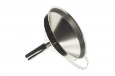 Edelstahl Einfülltrichter mit Henkel 10cm Durchmesser oben, 1,5cm Durchmesser unten zum zurück füllen vom Isopropylalkohol