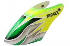 Lionheli Fiberglass Haube im gelb/grünem Design 05 für den Blade 180 CFX, Trio 180 CFX