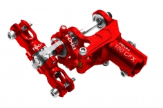 Rakonheli komplettes Heckset aus Aluminium in rot für Blade 180 CFX, Trio 180 CFX und Fusion 180