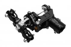 Rakonheli komplettes Heckset aus Aluminium in schwarz für Blade 180 CFX, Trio 180 CFX und Fusion 180