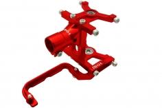Rakonheli komplettes Heckrohr Montage Set aus Aluminium in rot für Blade 180 CFX, Trio 180 CFX und Fusion 180
