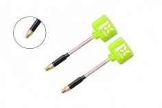 Foxeer Lollipop 3 FPV Antennen Set AXII RHCP mit geradem MMCX Anschluss in neon gelb 2 Stück