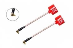 Foxeer Lollipop 3 FPV Antennen Set AXII RHCP MMCX mit 90° Winkel in rot 2 Stück