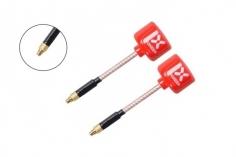 Foxeer Lollipop 3 FPV Antennen Set AXII RHCP mit geraden MMCX Anschluss in rot 2 Stück