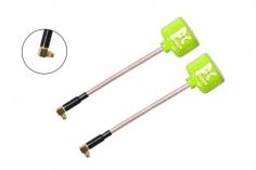 Foxeer Lollipop 3 FPV Antennen Set AXII RHCP MMCX mit 90° Winkel in neon gelb 2 Stück