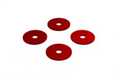 OXY Ersatzteil Heckrotorblatt Abstandhalter 0,75mm in rot für OXY5