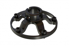 OXY Ersatzteil Zahnriemenrad Halterung vorne in schwarz für OXY5