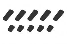 Schalterabdeckung eckig aus Soft Silikon in schwarz 10Stück, je 5x groß und 5x klein