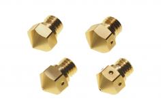Premium Messing Nozzle MK10 / M7 im Set 4 Stück, je 1x 0,2mm, 0,4mm, 0,6mm, 0,8mm
