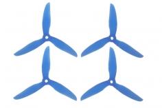 DalProp FPV Race Propeller CYCLONE POPO Quick Swap T5043C 5x4,3x3 in blau transparent