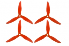 DalProp FPV Race Propeller CYCLONE POPO Quick Swap T5043C 5x4,3x3 in rot transparent