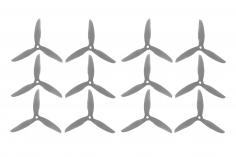 DalProp FPV Race Propeller CYCLONE POPO Quick Swap T5047C 5x4,7x3 in schwarz transparent MAXI PACK 6xCW 6xCCW