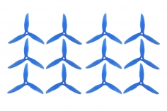 DalProp FPV Race Propeller CYCLONE POPO Quick Swap T5047C 5x4,7x3 in blau transparent MAXI PACK 6xCW 6xCCW