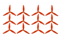 DalProp FPV Race Propeller CYCLONE POPO Quick Swap T5047C 5x4,7x3 in rot transparent MAXI PACK 6xCW 6xCCW