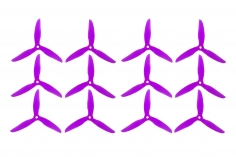 DalProp FPV Race Propeller CYCLONE POPO Quick Swap T5047C 5x4,7x3 in violette transparent MAXI PACK 6xCW 6xCCW