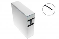 Geflechtschlauch 3-6mm schwarz auf der praktischen Rollenspenderbox 15 Meter