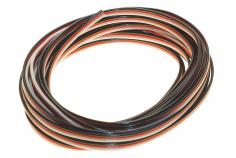 Servokabel für Futaba System 3x0,14mm² PVC flach 5 Meter