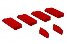 OXY Landegestell und Heckfinnen Schutz für OXY5 in rot