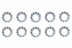 Fächerscheiben / Sicherungsscheiben Außendurchmesser 10mm Innendurchmesser 5,3mm für M5