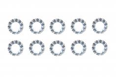 Fächerscheiben / Sicherungsscheiben Außendurchmesser 8mm Innendurchmesser 4,3mm für M4