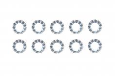 Fächerscheiben / Sicherungsscheiben Außendurchmesser 7mm Innendurchmesser 3,7mm für M3,5