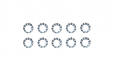 Fächerscheiben / Sicherungsscheiben Außendurchmesser 4,5mm Innendurchmesser 2,2mm für M2