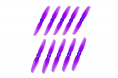 HQ Micro Durable Propeller T65mm mit 1.5mm Welle aus -Poly Carbonate in violette je 5xCW+ 5xCCW für Toothpick Racer
