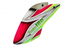 Lionheli Fiberglass Haube im rot/grau/grün Design für den Blade Fusion 180